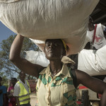 Care distribute tents, family kits and hygiene kits in Dondo